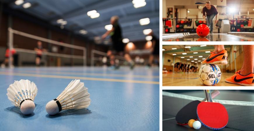 Badminton, bowling og fodbold i Fredericia Idrætscenter