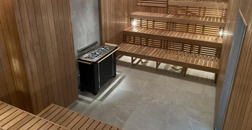 Den nye sauna i Fredericia Idrætscenter