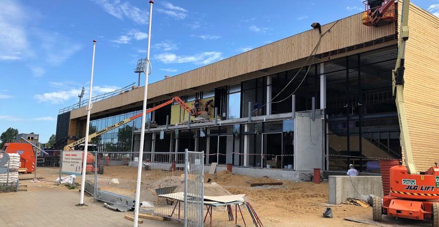 Byggeri ved Fredericia Idrætscenter