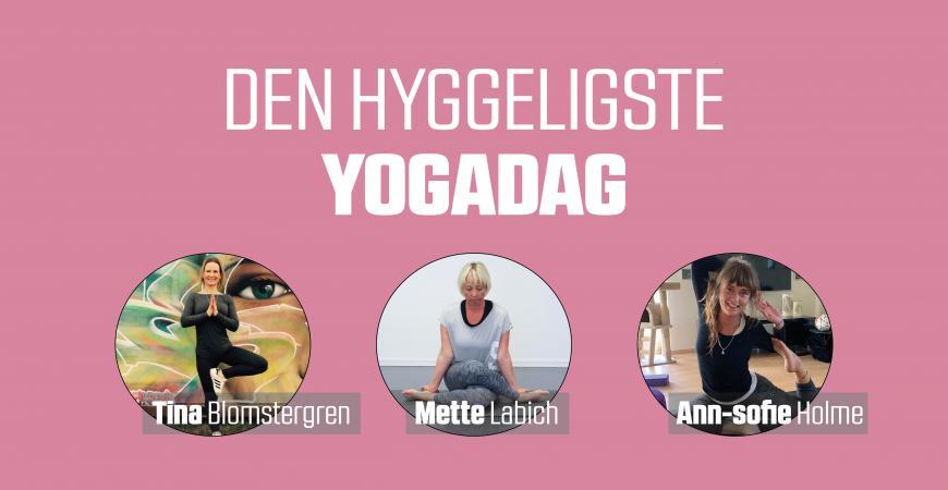 En hyggelig yogadag i FIC inkl. instruktører