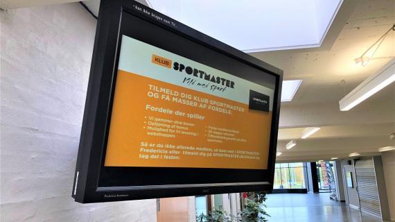 TV Skærm i Fredericia Idrætscenter