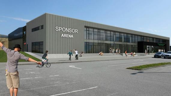 Fredericia Idrætscenters nye tilbygning set fra en nordlig retning