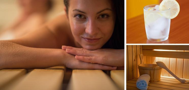 Kvinde der slapper af til wellness behandling